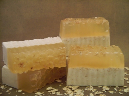 Handmade Soap - Oatmeal, Milk and Honey Soap Bar