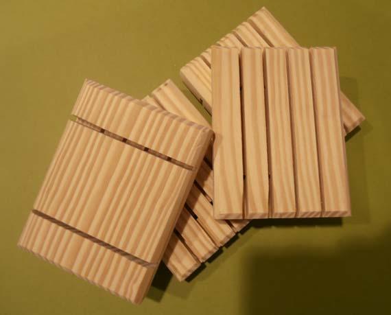 Handmade Wooden Soap Dish Pine